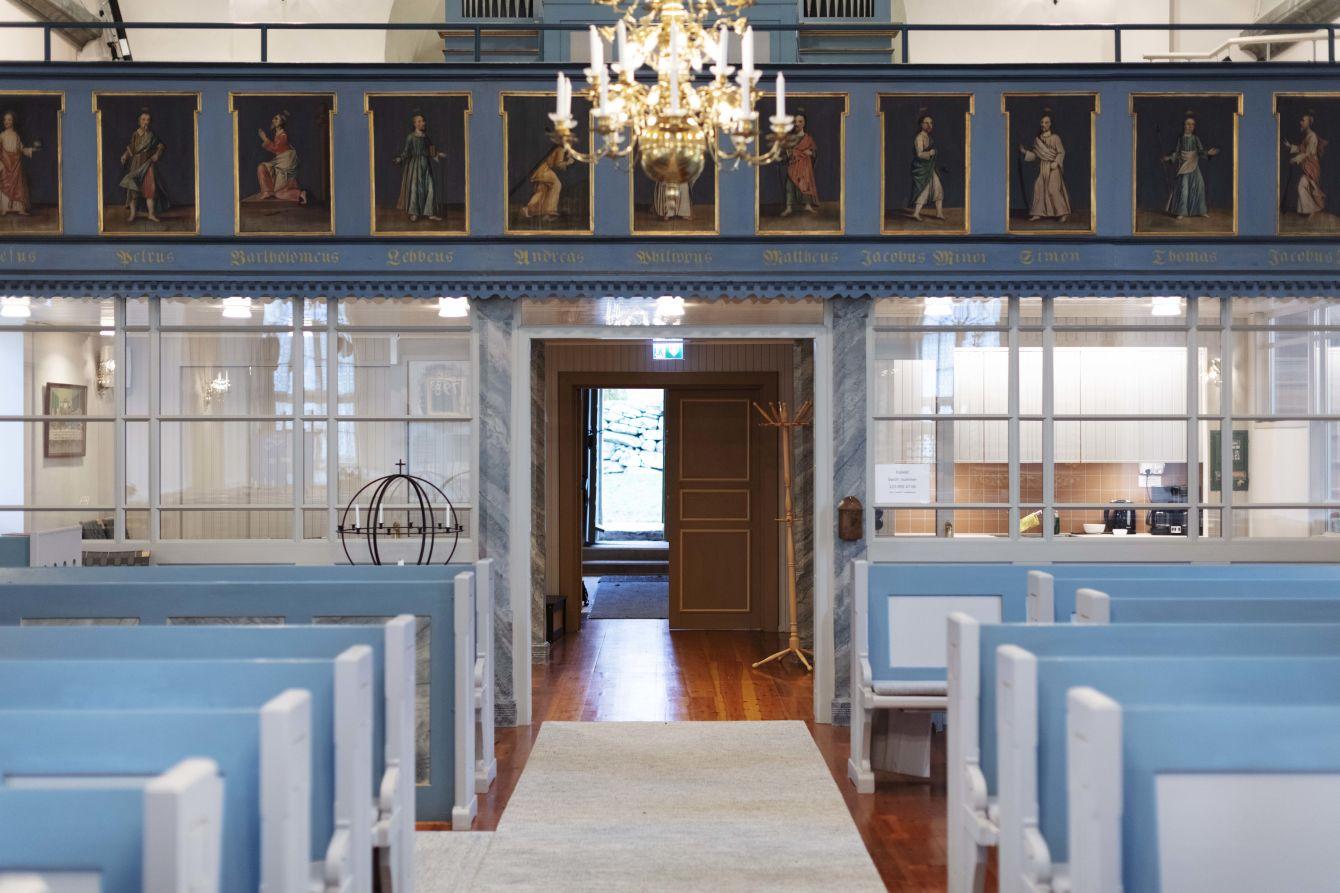 Interiör Berghems kyrka - Fristad Bygg