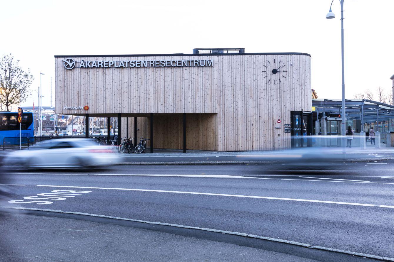 Exteriör Resecentrum Åkareplatsen - Fristad Bygg